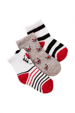 Носки (3 пары) для мальчиков 5.10.15.. Цвет: белый