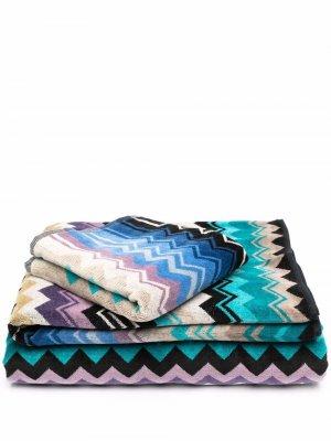 Набор полотенец в полоску Missoni Home. Цвет: нейтральные цвета