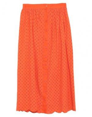 Юбка длиной 3/4 GLAMOROUS. Цвет: оранжевый