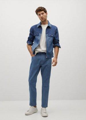 Джинсовая куртка под винтаж - Ryabol Mango. Цвет: синий средний