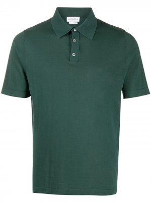 Однотонная рубашка-поло Ballantyne. Цвет: зеленый