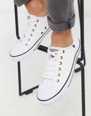 Белые кеды на шнуровке -Белый Dunlop