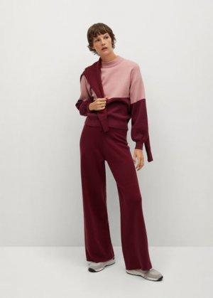 Джемпер с рукавами-фонариками - Miro Mango. Цвет: пастельно-розовый