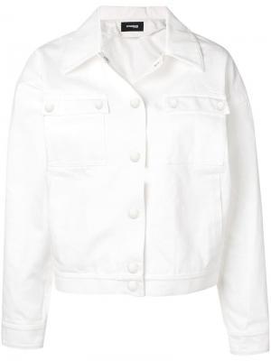 Куртка в стиле casual Kwaidan Editions. Цвет: белый