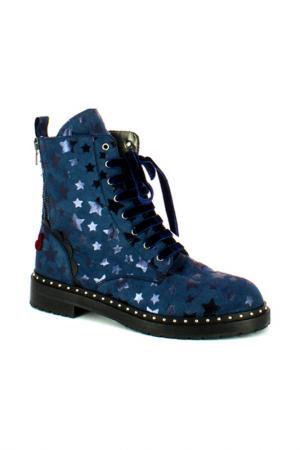 Ботинки Fornarina. Цвет: серый, синий