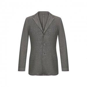 Льняной пиджак 120% Lino. Цвет: серый