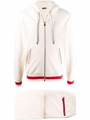 Спортивный костюм с контрастной отделкой Kiton. Цвет: белый