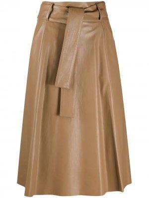 Tie-waist A-line skirt Drome. Цвет: нейтральные цвета