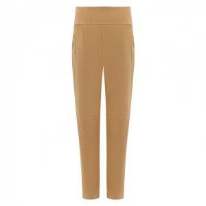 Замшевые брюки Ralph Lauren. Цвет: бежевый