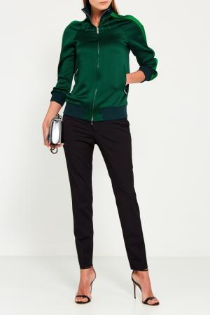 Куртка-бомбер с рельефами на рукавах Valentino. Цвет: зеленый