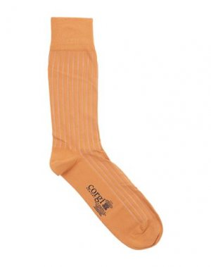 Короткие носки CORGI. Цвет: оранжевый