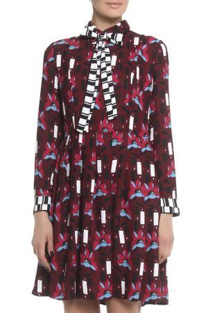 Платье Beatrice. B. Цвет: бордовый