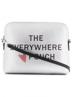 Клатч Everywhere DKNY. Цвет: серебристый