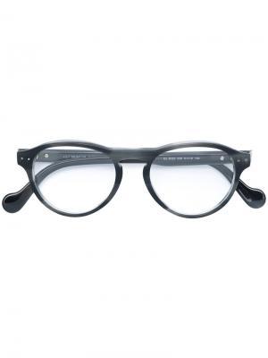 Очки в круглой оправе Moncler Eyewear. Цвет: серый