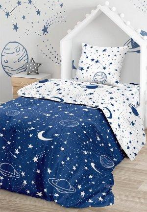 Постельное белье детское Juno. Цвет: синий