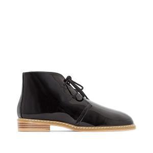 Ботинки-дезерты лакированные La Redoute Collections. Цвет: белый,черный