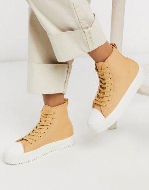 Высокие кроссовки на массивной подошве -Светло-коричневый Ichi