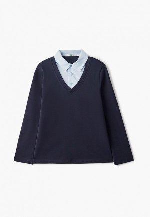 Пуловер Lik Fashion. Цвет: синий