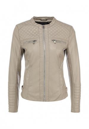 Куртка кожаная Concept Club. Цвет: серый