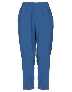 Повседневные брюки MAMA B.. Цвет: грифельно-синий