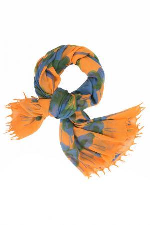 Палантин Michel Katana. Цвет: мандариновый, синий, хвойный