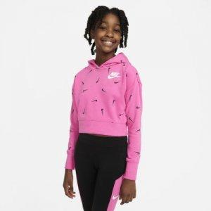 Укороченная худи из ткани френч терри для девочек школьного возраста Sportswear Nike