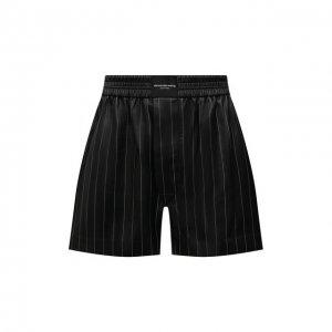 Кожаные шорты Alexander Wang. Цвет: чёрный