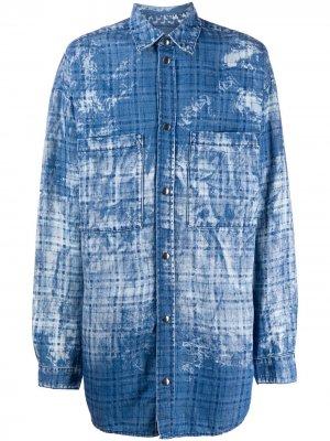 Куртка-рубашка оверсайз Faith Connexion. Цвет: синий