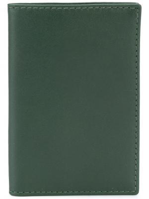 Классический бумажник Comme Des Garçons Play. Цвет: зелёный