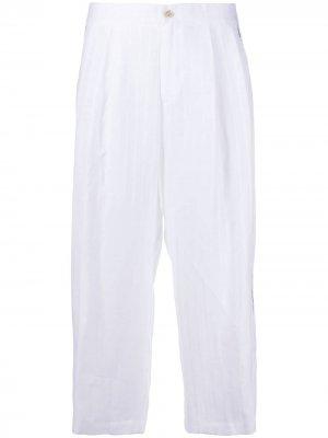 Укороченные брюки в полоску Ermanno Scervino. Цвет: белый
