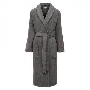 Хлопковый халат Calvin Klein. Цвет: серый