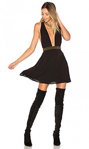 Украшенное платье iria ale by alessandra. Цвет: черный