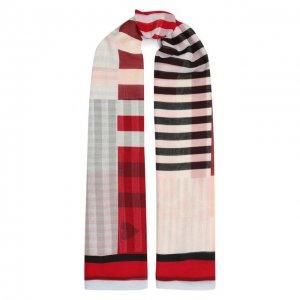Хлопковая шаль Alexander McQueen. Цвет: красный