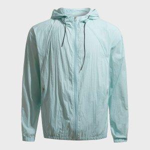 Мужской Спортивная куртка на молнии с капюшоном SHEIN. Цвет: мятно-синий