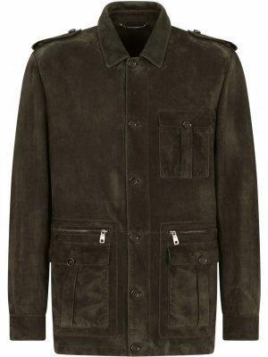 Куртка в стиле милитари Dolce & Gabbana. Цвет: зеленый