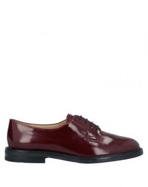 Обувь на шнурках THEORY. Цвет: красно-коричневый