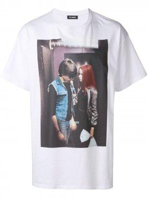 Christiane F. T-shirt Raf Simons. Цвет: белый