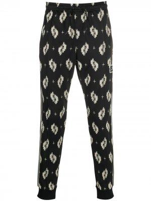 Укороченные спортивные брюки с принтом Kenzo. Цвет: черный
