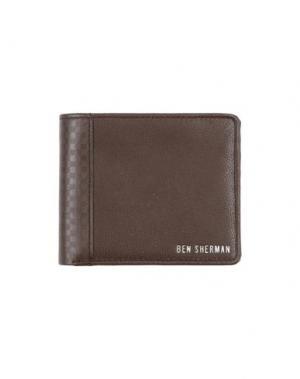 Бумажник BEN SHERMAN. Цвет: темно-коричневый