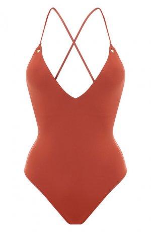Слитный купальник Melissa Odabash. Цвет: коричневый