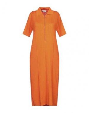 Платье миди SEVERI DARLING. Цвет: оранжевый