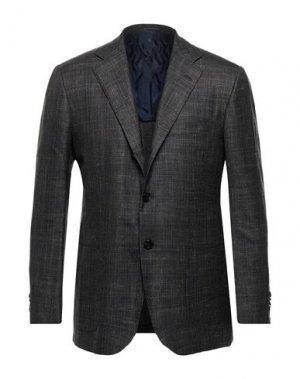 Пиджак KITON. Цвет: стальной серый