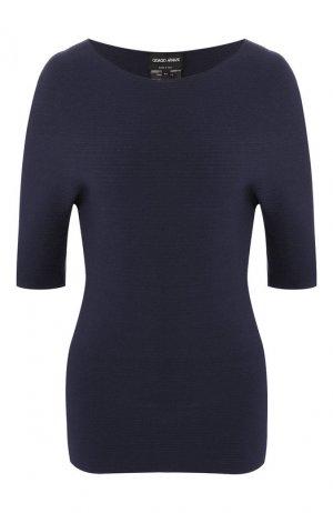 Пуловер из вискозы Giorgio Armani. Цвет: синий