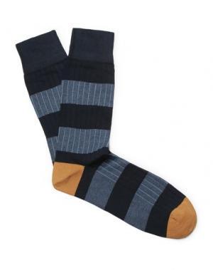 Короткие носки CORGI. Цвет: темно-синий