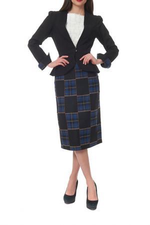 Комплект с юбкой Mannon. Цвет: черный, синий