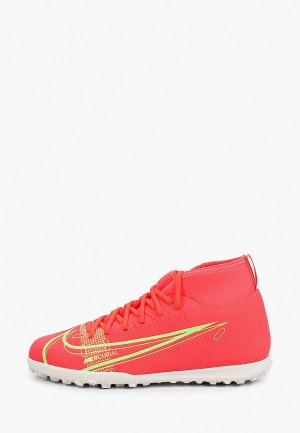 Шиповки Nike JR SUPERFLY 8 CLUB TF. Цвет: коралловый