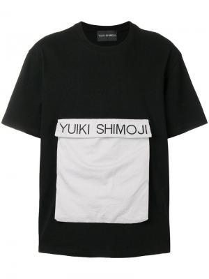 Flap pocket T-shirt Yuiki Shimoji. Цвет: черный