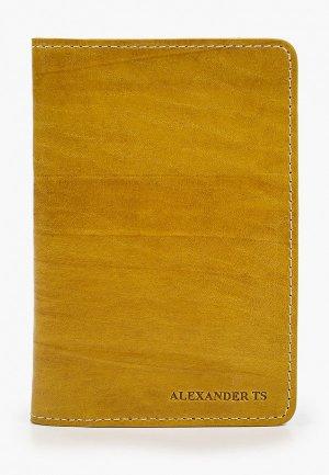 Обложка для паспорта Alexander Tsiselsky Unica. Цвет: желтый