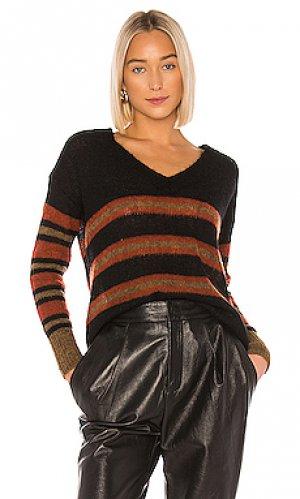 Пуловер с v-образным вырезом nixon One Grey Day. Цвет: черный