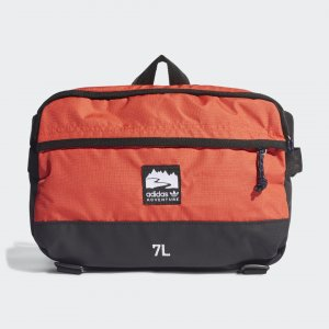 Сумка на пояс Adventure adidas. Цвет: красный